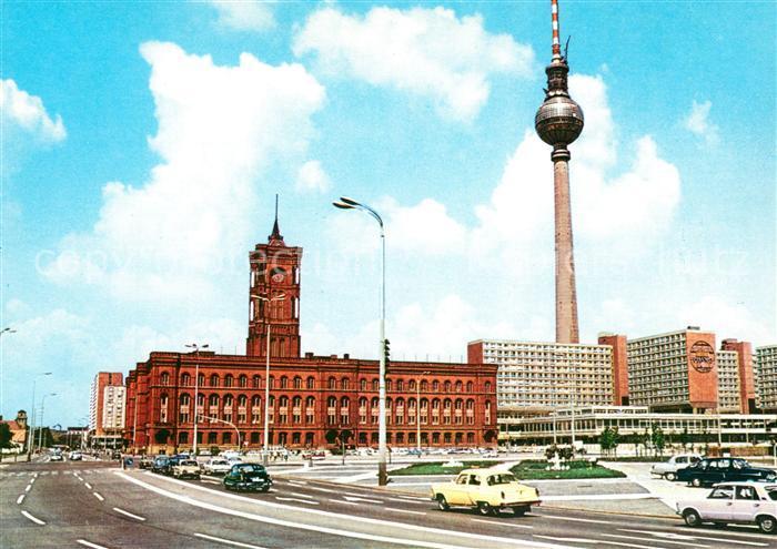 AK / Ansichtskarte Berlin Rathaus Fernsehturm Hauptstadt der DDR Kat. Berlin