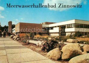 AK / Ansichtskarte Zinnowitz Ostseebad Meerwasserhallenbad Feriendienst der IG Wismut