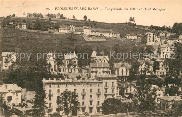 AK / Ansichtskarte Plombieres les Bains Vosges Vue generale des Villas et Hotel Metropole Kat. Plombieres les Bains