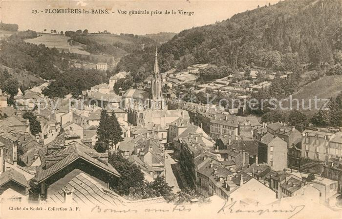 AK / Ansichtskarte Plombieres les Bains Vosges Vue generale prise de la Vierge Kat. Plombieres les Bains