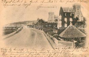 AK / Ansichtskarte Deauville La Promenade de la Plage la Villa Elisabeth Kat. Deauville