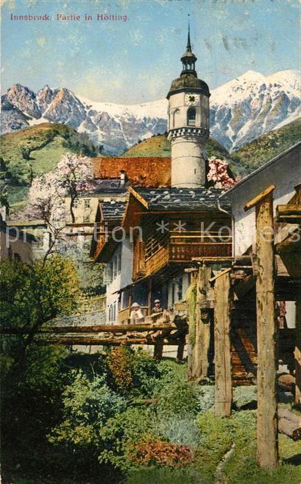 AK / Ansichtskarte Hoetting Ortspartie mit Kirche Kat. Innsbruck