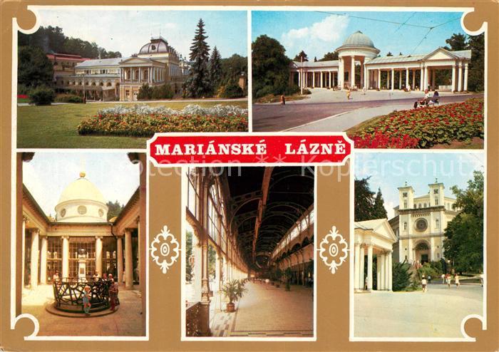 AK / Ansichtskarte Marianske Lazne Spielcasino Kolonaden Kurhaus Wandelhalle Kat. Marienbad