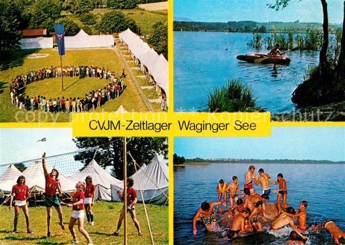 AK / Ansichtskarte Tettenhausen CVJM Zeltlager Gut Horn Volleyball Sport Badestrand Kat. Waging a.See