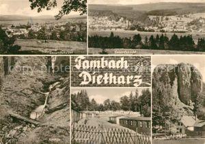 AK / Ansichtskarte Tambach Dietharz Panorama Roellchen Ferienlager Falkenstein Kat. Tambach Dietharz