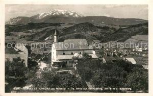 AK / Ansichtskarte St Corona Wechsel Wallfahrtskirche mit Schneeberg Kat. St. Corona am Wechsel
