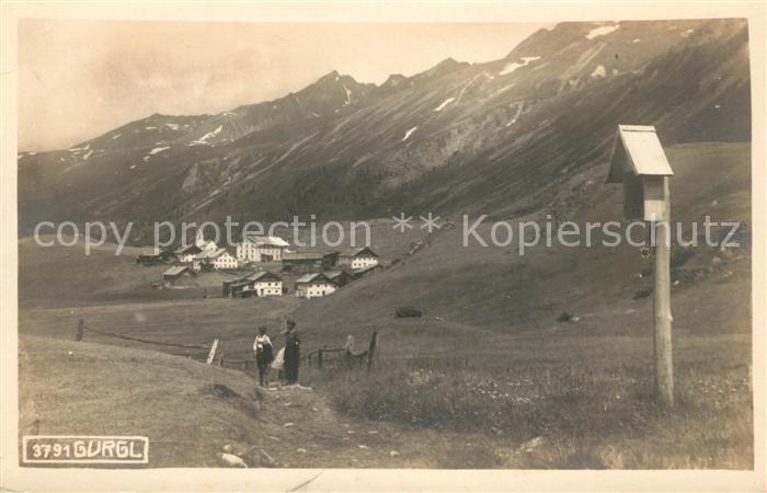 AK / Ansichtskarte Gurgl Wanderweg Kat. Soelden oetztal Tirol