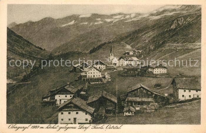 AK / Ansichtskarte Obergurgl Soelden Tirol hoechstgelegenes Dorf im Tirol Kat. Soelden oetztal