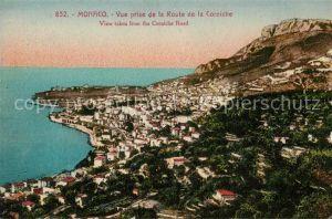 AK / Ansichtskarte Monaco Vue prise de la Route de la Corniche Cote d Azur Kat. Monaco