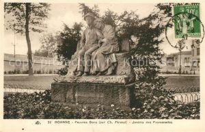 AK / Ansichtskarte Roanne Loire Pauvres Gens Monument Jardins des Promenades Kat. Roanne