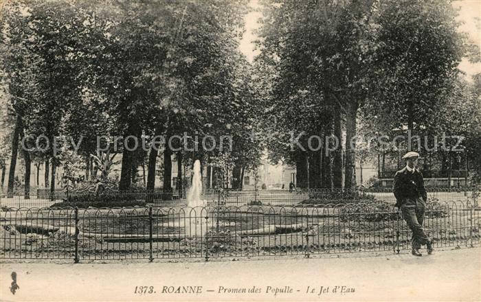 AK / Ansichtskarte Roanne Loire Promenades Populle Jet d Eau Kat. Roanne