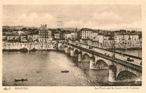 AK / Ansichtskarte Roanne Loire Pont sur la Loire et le Coteau Kat. Roanne