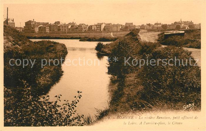 AK / Ansichtskarte Roanne Loire La riviere Renaison affluent de la Loire le Coteau Kat. Roanne