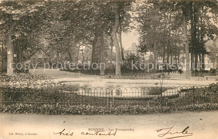 AK / Ansichtskarte Roanne Loire Les Promenades Kat. Roanne