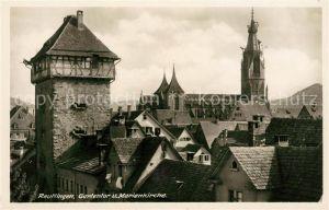 AK / Ansichtskarte Reutlingen Tuebingen Gartentor und Marienkirche Altstadt