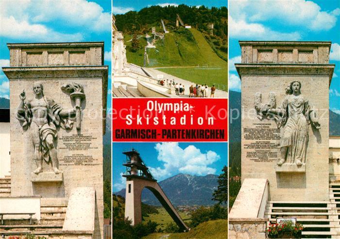 AK / Ansichtskarte Ski Flugschanze Olympia Skistadion Garmisch Partenkirchen  Kat. Sport