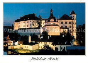 AK / Ansichtskarte Jindrichuv Hradec Schloss bei Nacht Kat. Neuhaus