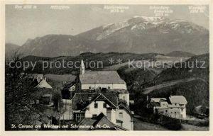 AK / Ansichtskarte St Corona Wechsel mit Schneeberg Kat. St. Corona am Wechsel