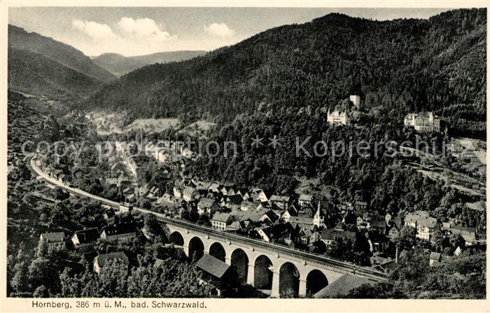 AK / Ansichtskarte Hornberg Schwarzwald Fliegeraufnahme mit Viadukt Kat. Hornberg