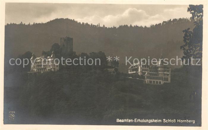 AK / Ansichtskarte Hornberg Schwarzwald Beamtenerholungsheim Schloss Hornberg Kat. Hornberg