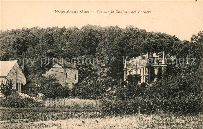 AK / Ansichtskarte Nogent sur Oise Vue sur le Chateau des Rochers Kat. Nogent sur Oise