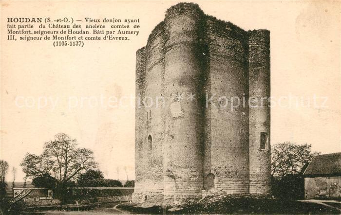 AK / Ansichtskarte Houdan Vieux donjon ruine Kat. Houdan