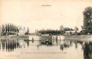 AK / Ansichtskarte Saint Maur des Fosses La Marne Quai de la Pie ancien barrage Kat. Saint Maur des Fosses