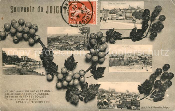 AK / Ansichtskarte Joigny Yonne Souvenir de la ville Kat. Joigny
