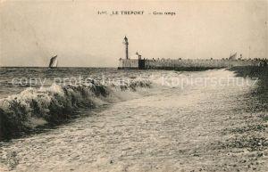 AK / Ansichtskarte Le Treport Gros temps phare Kat. Le Treport