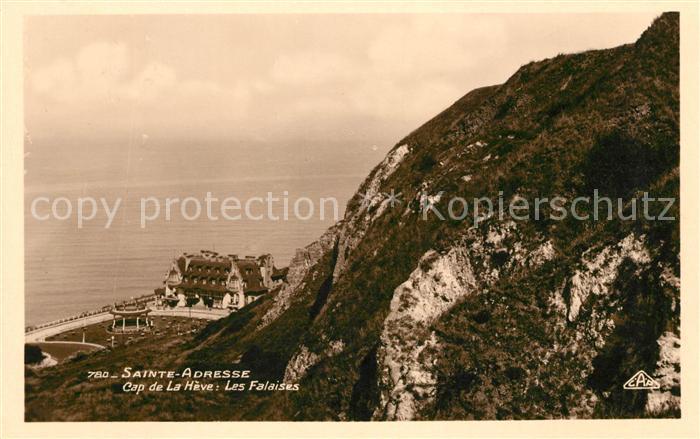AK / Ansichtskarte Sainte Adresse Cap de la Heve les falaises Cote Kat. Sainte Adresse