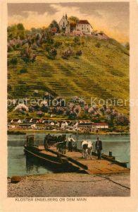 AK / Ansichtskarte Kloster Engelberg Steg am Main mit Blick zum Kloster Kat. Grossheubach