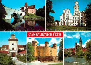 AK / Ansichtskarte Tschechische Republik Statni zamek Cervena Lhota Zamek Hluboka Zamek Kratochvile Zame Orlik Zamek Cesky Krumlov Kat. Tschechische Republik