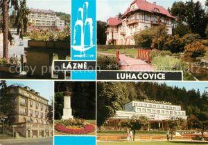 AK / Ansichtskarte Luhacovice Palace Sanatorium Dum Leose Janacka Hotel Alexandria Pomnik Leose Janacka Spolecensky dum Kat. Tschechische Republik