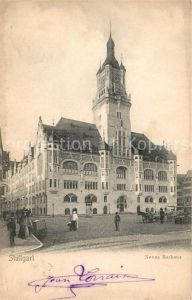 AK / Ansichtskarte Stuttgart Neues Rathaus Kat. Stuttgart