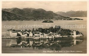 AK / Ansichtskarte Isola Bella con Isola Madre e Pallanza veduta aerea Kat. Lago Maggiore