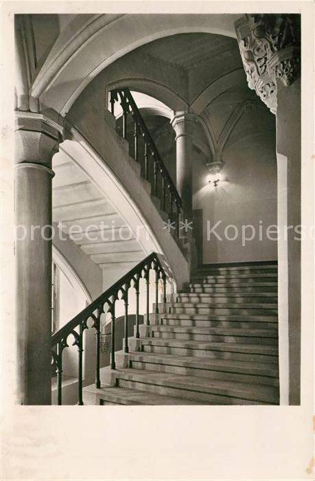Ak Ansichtskarte Ortenberg Baden Schloss Treppenaufgang Haus Der