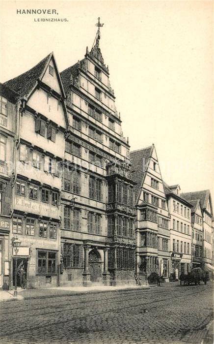 AK / Ansichtskarte Hannover alte Haeuser mit Pferdewagen Kat. Hannover