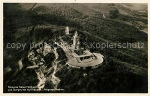 AK / Ansichtskarte Kyffhaeuser Fliegeraufnahme Denkmal Kaiser Wilhelm Kat. Bad Frankenhausen