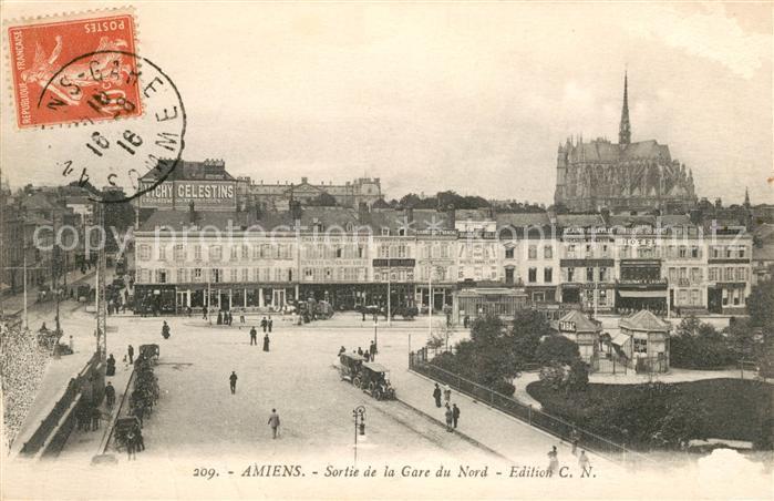 AK / Ansichtskarte Amiens Sortie de la Gare du Nord  Kat. Amiens