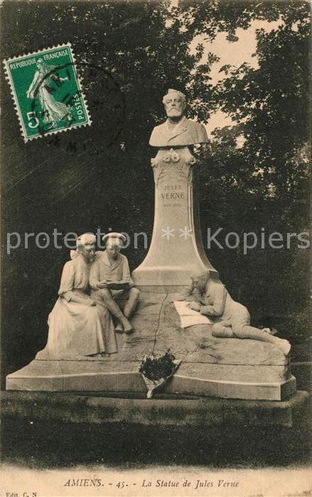 AK / Ansichtskarte Amiens La Statue de Jules Verne Kat. Amiens