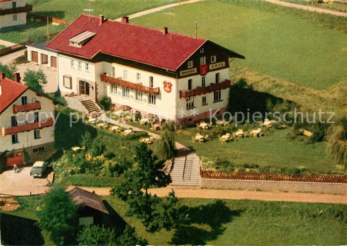 Ak Ansichtskarte Bodenmais Hotel Pension Cafe Hubertus Kat