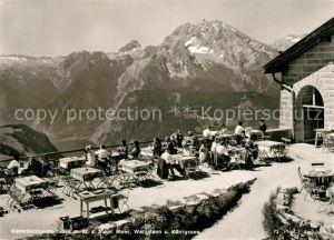 AK / Ansichtskarte Kehlsteinhaus Terrasse Meer Watzmann Koenigssee Kat. Berchtesgaden