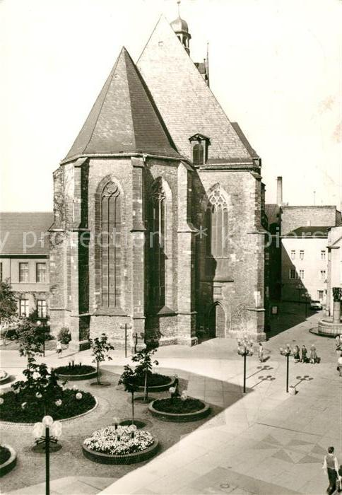 AK / Ansichtskarte Halle Saale Klement Gottwald Str Kirche Kat. Halle
