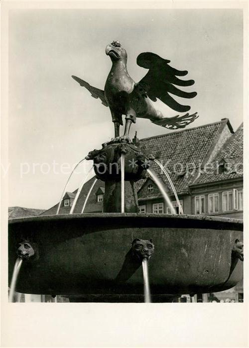 AK / Ansichtskarte Goslar Marktbecken mit dem Goslarer Adler Kat. Goslar