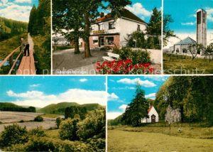 AK / Ansichtskarte Holtheim Wanderweg Geschaeft Wittlage Kirche Kapelle Landschaftspanorama Kat. Lichtenau