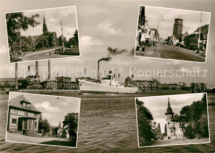 AK / Ansichtskarte Blumenthal Bremen Kirche Fabriken Ortsansichten Kat. Bremen