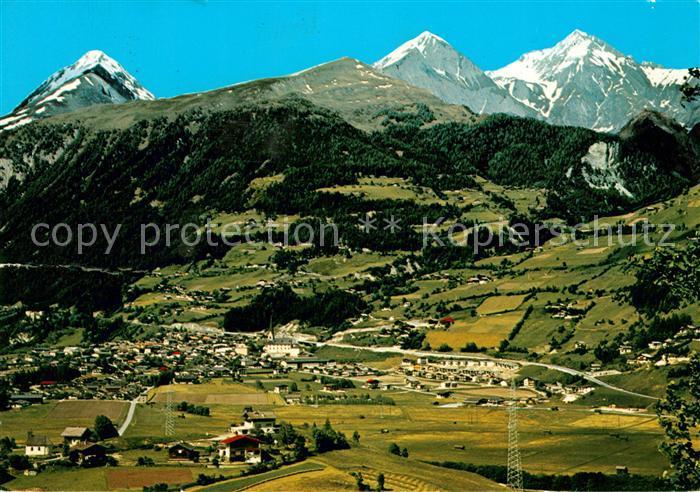 AK / Ansichtskarte Matrei Osttirol mit Felbertauernstrasse Nussingkogel Bretterwand Kendlspitze Alpenpanorama Kat. Matrei in Osttirol