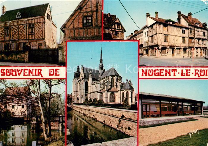 AK / Ansichtskarte Nogent le Roi La Bleviniere Vieilles Maisons Moulin des Planchettes Eglise Piscine Kat. Nogent le Roi