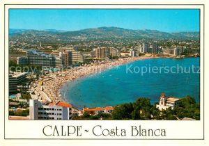 AK / Ansichtskarte Calpe Vista general playa de levante Kat. Alicante