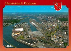 AK / Ansichtskarte Bremen Hafen Hansestadt Fliegeraufnahme Kat. Bremen